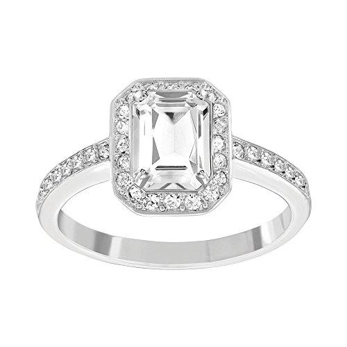 Swarovski Damen-Ring rhodiniert Glas transparent Gr. 50 (15.9) - 5139642