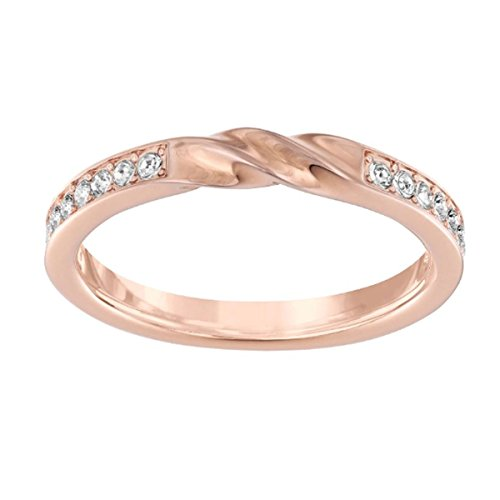 Swarovski Damen-Ring rhodiniert Glas transparent Gr. 50 (15.9) - 5139667