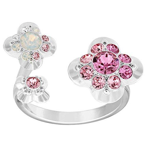 Swarovski Damen-Ring rhodiniert Glas transparent Gr. 52 (16.6) - 5139720