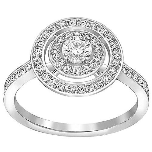 Swarovski Damen-Ring rhodiniert Glas transparent Gr. 52 (16.6) - 5184214