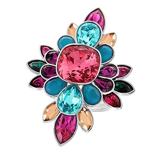Swarovski Damen-Ring rhodiniert Glas transparent Gr. 58 (18.5) - 5140088
