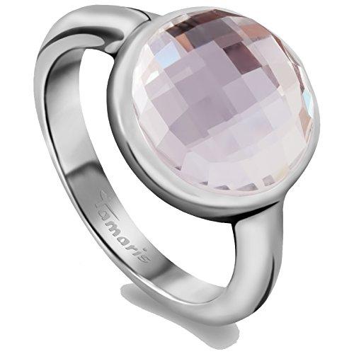Tamaris Damen-Ring Pina Edelstahl Glas weiß Gr. 58 (18.5) - A06310017