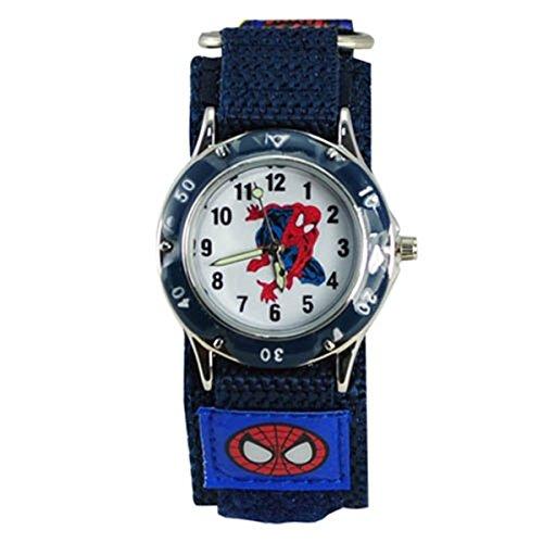 Thalia SAGUN Kinder Spider Man Wasser Widerstand Spiderman Armbanduhr Schnell Wrap Klettverschluss Jungen Mädchen Kinder Geburtstag Geschenk Uhren
