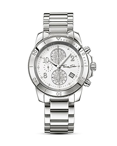 Thomas Sabo Damen-Armbanduhr Glam & Soul - CHRONO Classic Chronograph Quarz Edelstahl WA0190-201-202-40 mm