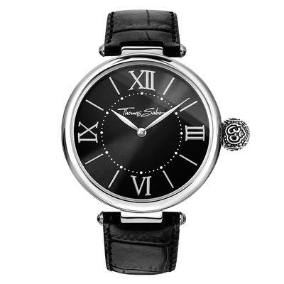 Thomas Sabo Damen-Armbanduhr Glam & Soul - KARMA Om Analog Quarz Leder WA0260-218-203-38 mm
