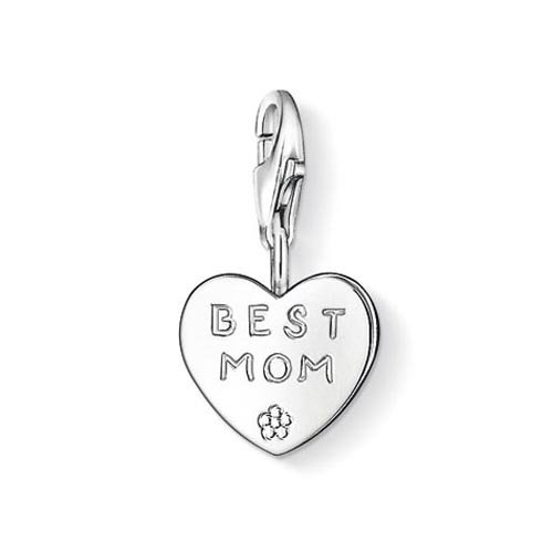 Thomas Sabo Damen-Charm Club-Anhänger BEST MOM 925er Sterlingsilber 0821-001-12