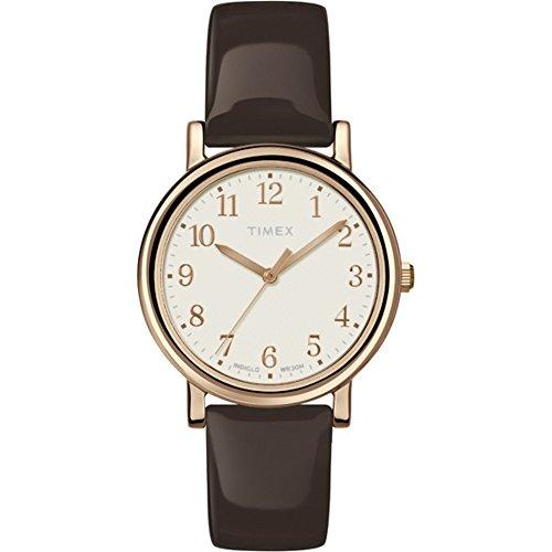 Timex Damen-Armbanduhr Analog Quarz Leder T2P465