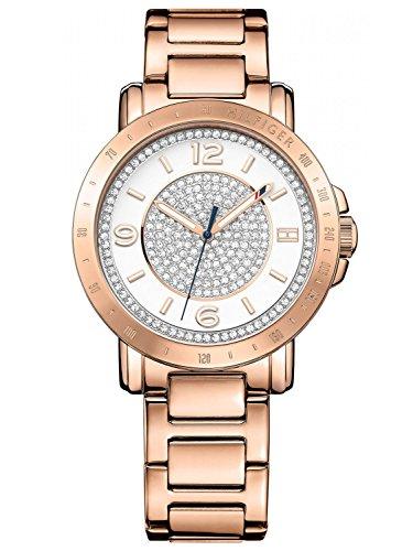 Tommy Hilfiger Damen-Armbanduhr Analog Quarz Edelstahl beschichtet 1781625