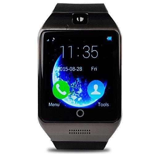 VOSMEP Smartwatch Apro Watch Phone Unterstützt Facebook WhatsApp mit Bluetooth 3.0 mit eingebautem 8G Speicher Smart Armbanduhr Telefon Sport Armband mit Kamera Touch Screen für Apple / iOS, Samsung / Android, HTC, unterstützt SIM Smartphones SM004