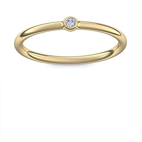 Vorsteckring Verlobungsring Gold Ring Zirkonia 750 + inkl. Luxusetui ...