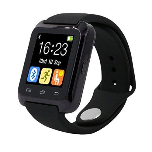 Vovotrade® Für iPhone LG Samsung Handy Bluetooth Smart-Armbanduhr Pedometer Gesund(Schwarz)