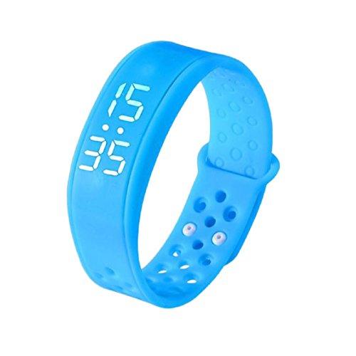 Vovotrade W6 Sport Gesundheit Schrittzähler Smart-Wearable -Armband-Armband-Uhrenarmband (Blau)