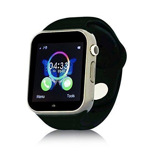 Yuntab® Bluetooth K9 SmartWatch Handy-Uhr Armbanduhr, Telefon für Android Samsung S2 / S3 / S4/ Note 2 /Note 3 / HTC / Nokia mit SIM-Karte und Kamera , schwarz