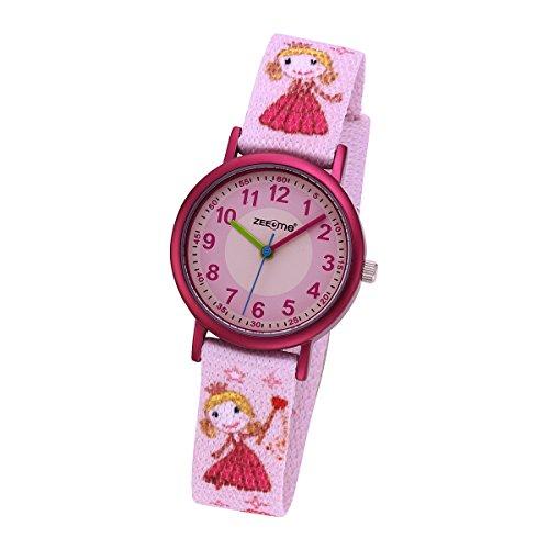 ZEEme Watches Mädchen-Armbanduhr Analog Quarz Textil 095000043