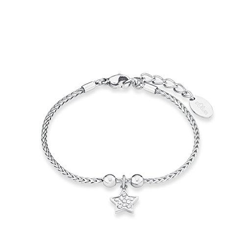 s.Oliver Damen-Armband Stern Edelstahl Zirkonia weiß 20 cm - 567237
