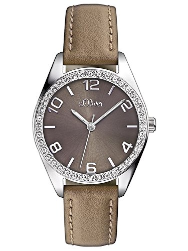 s.Oliver Damen-Armbanduhr Casual XS Analog Quarz Leder SO-2547-LQ