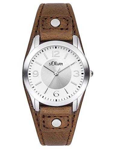 s.Oliver Damen-Armbanduhr XS Analog Quarz Leder SO-2946-LQ