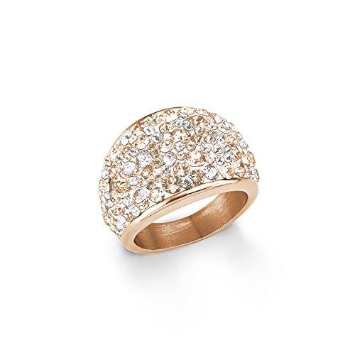 s.Oliver Damen-Ring 16 mm Swarovski Elements Edelstahl Kristall mehrfarbig Gr. 54 (17.2) - 567541