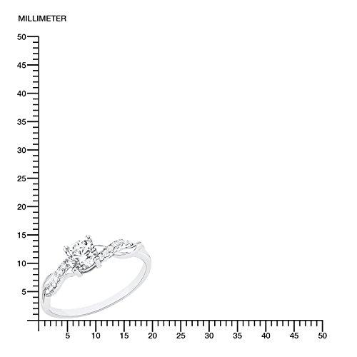 s.Oliver Damen-Ring 925 Silber rhodiniert Zirkonia weiß Gr. 58 (18.5) - 523530