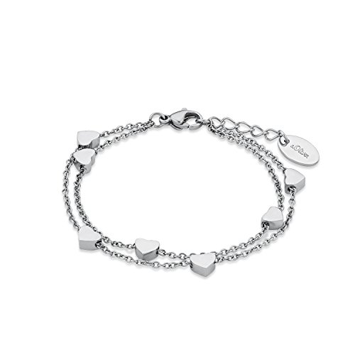 s.Oliver Kinder-Armband Teenager Girls Herzen Edelstahl 18 cm - 565479