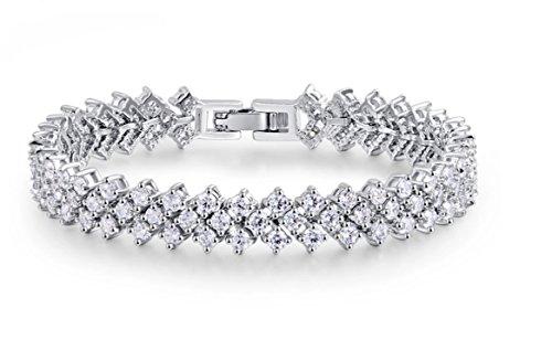 treasurebay Damen Armband Made mit österreichischen Kristallen Element in rhodiniert, ideales Geschenk für Frauen und Mädchen-wird in Geschenkbox