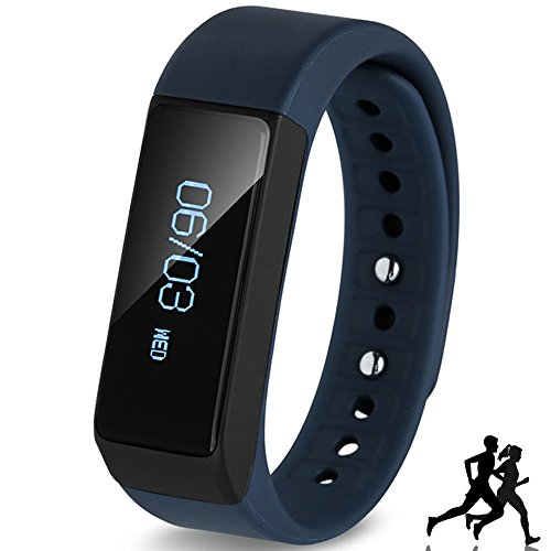 AIGAMI Wireless-Fitness Pedometer Tracker Bluetooth Sports Armband Activity Tracker mit Schritte Zähler Schlafüberwachung Kalorien Track for Sports Fitness Geschenk-Erhöhen Sie Ihre Fitness Now (Schwarz, I5 PLUS)