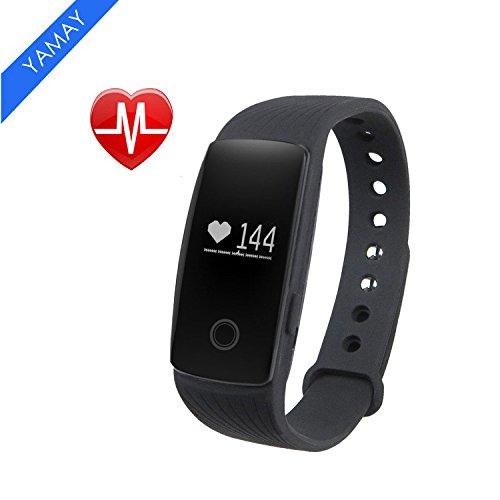 Fitness Tracker Smart Armband mit Pulsmesser, YAMAY Bluetooth Smart Armbanduhr Sport Schrittzähler Aktivitätstracker mit Herzfrequenzmonitor / Schrittzähler / Kalorienzähler / Schlaf-Monitor, kompatibel mit iPhone IOS und Android-Handy