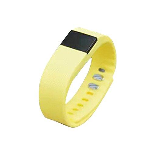Hightech TW64 Bluetooth LED Fitnessband Smartband Armband Sportband Watch Pedometer Schrittzähler Kalorienzähler gelb