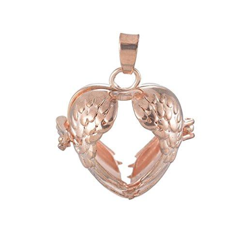Souarts Rosegold Hole Damen Ornament Anhänger Klangkugel in Schmuckbeutel für Halskette