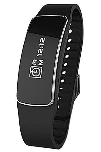 T2 Bluetooth 4.0 Touch Screen Smart Armband Tracking Kalorien Schrittzähler Gesundheit Armband schlafen Monitor Smartband für das iPhone 6 HTC Xiaomi Schwarz