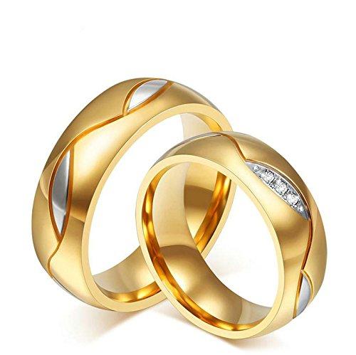 Aooaz Schmuck Damen Ring,Runde Form Blatt Muster Breite 6mm Edelstahl Ehering Verlobungsringe für Damen Gold Größe 54(17.2) Trauringe