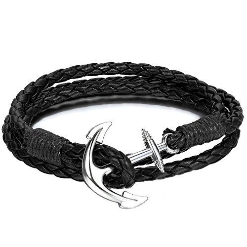 Armband | Armband schwarz | Arm Band | Anker Armband schwarz | schwarzes Armband | Accessoire Arm Band | Kette für Herren und Damen