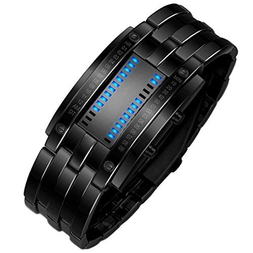 ihee Armband tragen sehr comfortableluxury Herren-Armband Edelstahl Datum Digital LED Sport Uhren New Fashion Einfache Handhabung SO COOL