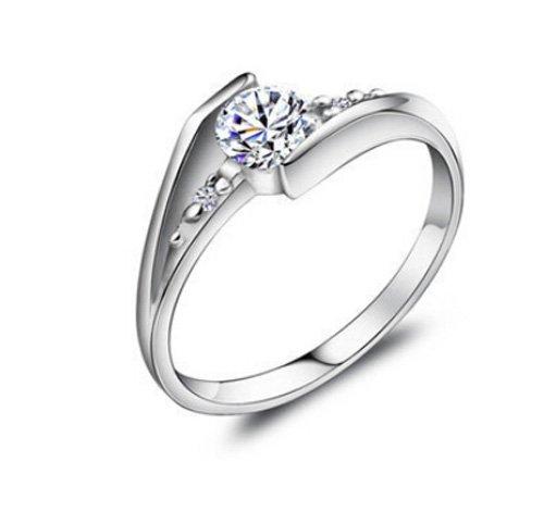 925 Sterling Silber Zirkonia Damen-Ring Verlobungsring design schmuck