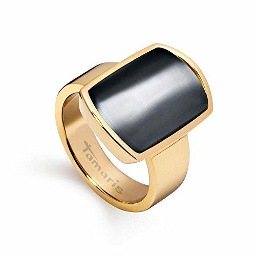A0341106 Tamaris Ring BECKY Edelstahl gold schwarz