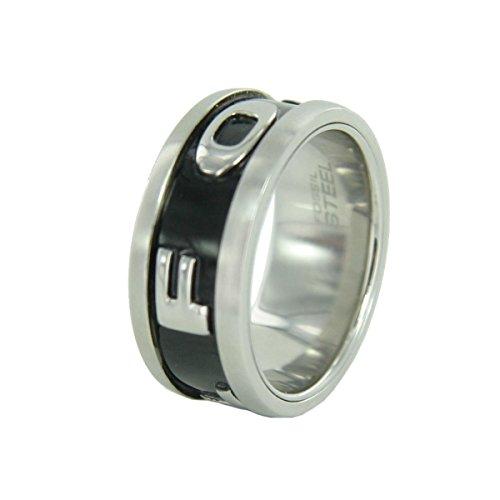 Fossil Herren Edelstahl Ring JF83566
