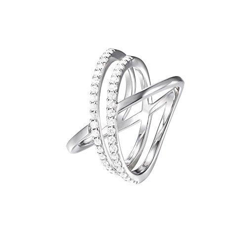 JOOP! Jewelry Damen-Ring JP-M Refined RG90800A180 925 Silber rhodiniert Zirkonia transparent