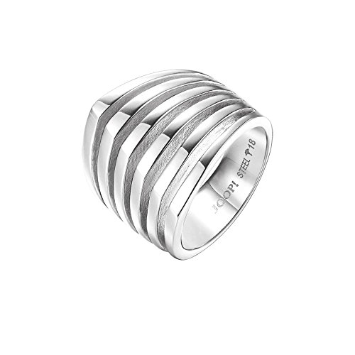 JOOP! Jewelry Damen-Ring JP-T Lines RG10645A170 Edelstahl rhodiniert JPRG10645A1