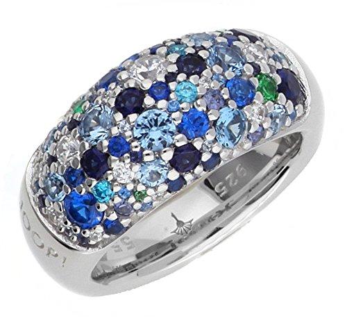 Joop Damen Fingerring Silber Blau Extreme Pavee JPRG90499F