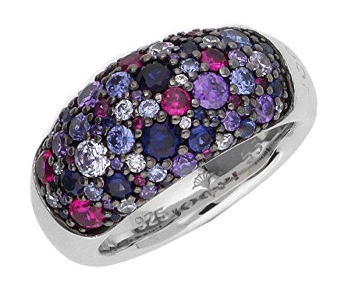 Joop Damen Fingerring Silber Lila Extreme Pavee JPRG90499B