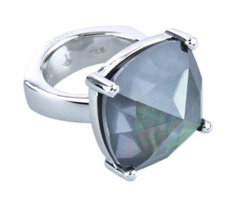 Joop Damen-Ring 925 Silber Zirkonia Rundschliff grau