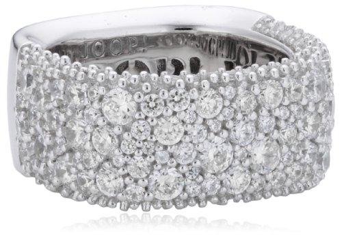 Joop Damen-Ring 925 Sterling Silber Jane Zirkonia-Pavée weiß JPRG90621A