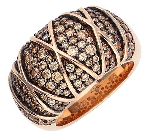 Joop Damen-Ring 925 Sterling Silber Zirkonia Mosaics rosa JPRG90724C