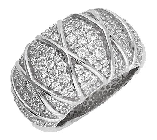 Joop Damen-Ring 925 Sterling Silber Zirkonia Mosaics weiß JPRG90724A