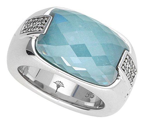 Joop Damen-Ring 925 Sterling Silber rhodiniert Kristall Zirkonia Harmony blau