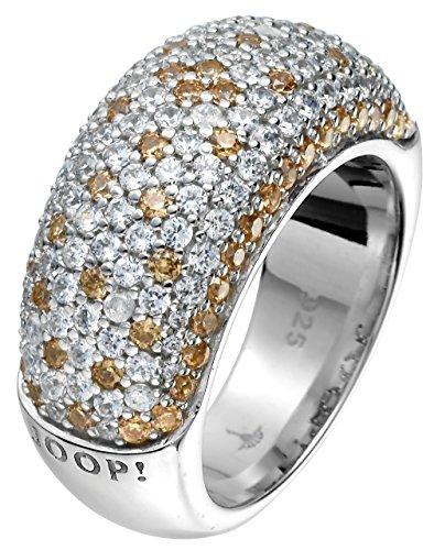 Joop Damen-Ring 925 Sterling Silber rhodiniert Kristall Zirkonia Pavée mehrfarbig