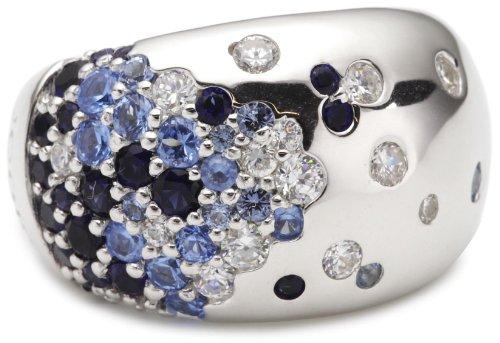 Joop Damen-Ring 925 Sterling Silber rhodiniert Kristall Zirkonia Scarlett blue mehrfarbig