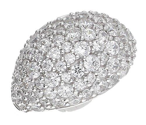 Joop! Damen-Ring JP-BLAKE 925 Silber Zirkonia weiß Gr. 53 (16.9) - JPRG90780A530