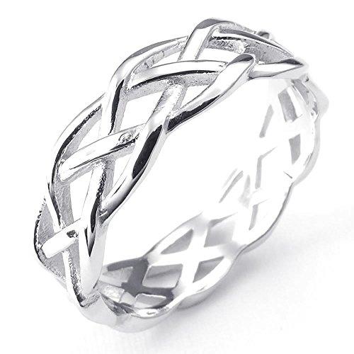 KONOV Schmuck Damen-Ring, 925 Sterling Silber, Irischen Dreiecksknoten Trinity Keltisch Knoten, Silber