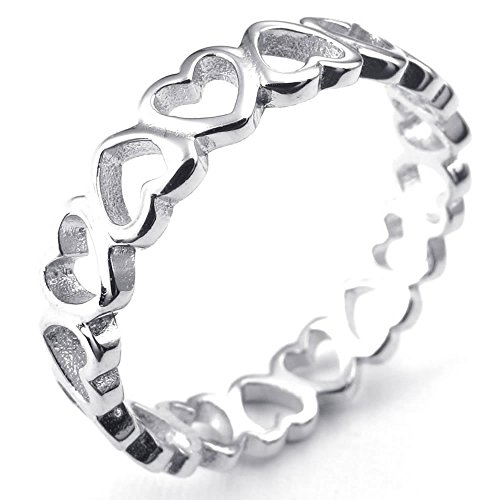 KONOV Schmuck Damen-Ring, 925 Sterling Silber, Lieben Herz, Silber